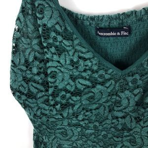 Abercrombie & Fitch Tops - Abercrombie & Fitch Lace Tank Top Floral Peplum